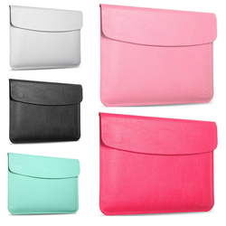 Pure Plain Color Classic Bag Pouch Pu Leather Case For Macbook Air pro 11 13inch Retain 15.4'' Retina