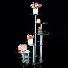 crystal candelabra with flower stand for wedding party centerpieces