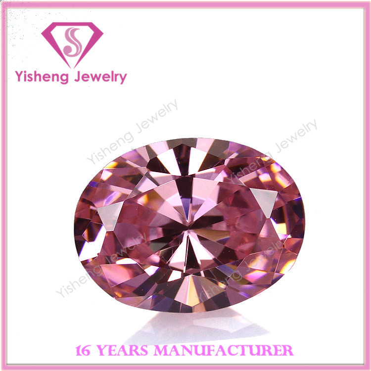 16x12mm OS AAA Faceted Diamond Cut Raw Pink Fire CZ Stone Wholesale