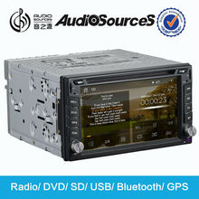 double din car dvd player for Universal car with digital car cd changer usb/sd/aux mp3 interface