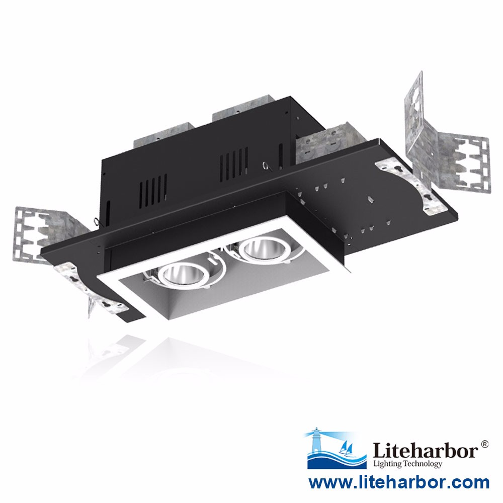 UL ETL recessed multiple fixtures 120-277V input Recessed Multiple Downlight 2 lights