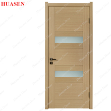 Office Glass Insert Solid Wood Entry Door With Frosted Glass
