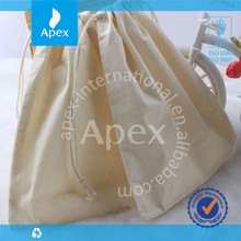 High Quality Cheap Logo Customized Eco-friendly Organic Cotton Drawstring Bag