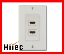 Two Female HDMI Wall plate