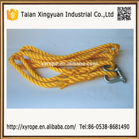 Colorful Yellow Twist Rope Packing Dock Line Mooring Cord