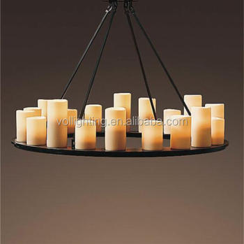 Hotsale iron pendant lamp candle light tea lighting for indoor decoration