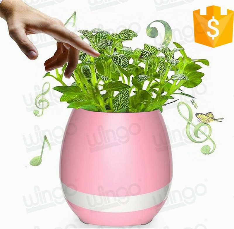 Creatively Multifunction Plant Pots Smart Music Speaker Wireless Bluetooth Stereo Audio Amplifier Music Flower Pot