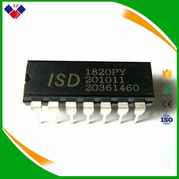 ISD1820PY 8-20 seconds single voice recording ic chip ISD1820