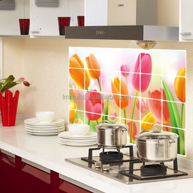 2015 New Vinilos Paredes Wall Sticker free Shipping Brazil Factory Wholesale Tulip Kitchen Oil Stickers Affixed 60 * 90 AY4001
