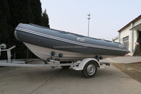 Hypalon or PVC RIB boats 2.5m to 7.6m fiberglass hull salvage motor boat RIB-420 with CE certificate for sale!