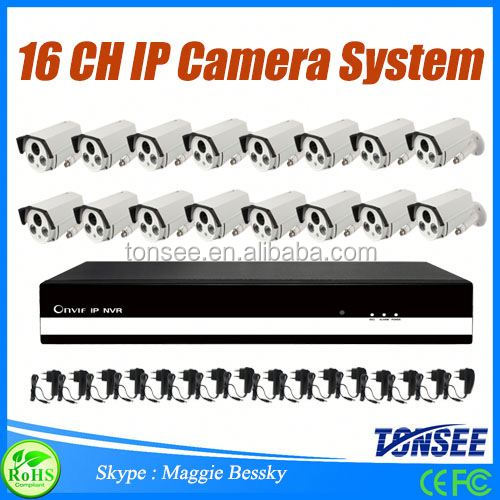 2016 new cctv camera 16 channel NVR Kit IP Camera system 8 Ccd Cameras Cctv System ip cam