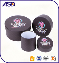 Custom made printed round gift box/ round cardboard gift box/ cardboard cylinder packaging box