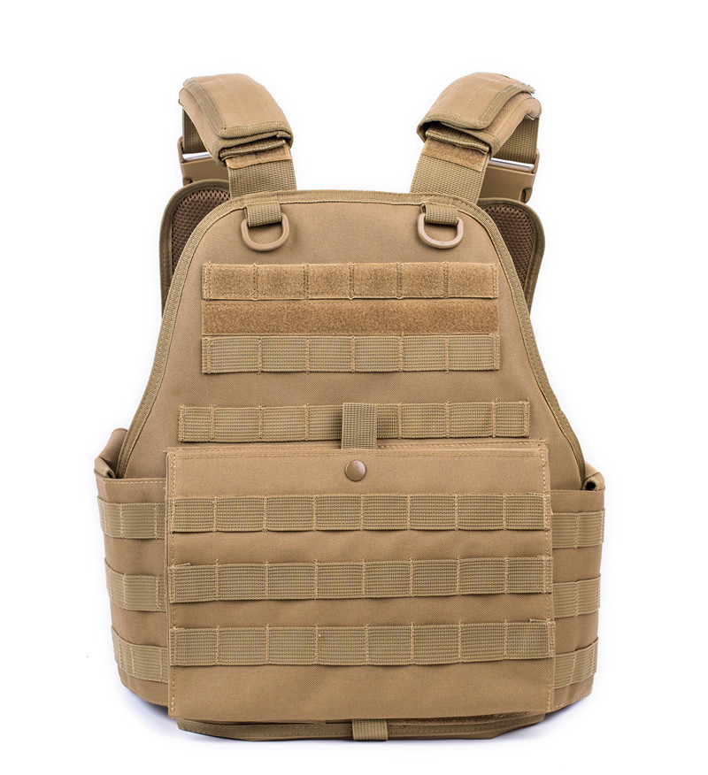 FS plate carrier water proof military bullet proof vest tactical vest body armor stock tan color
