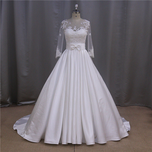 2015 pictures of latest lace wedding dresses by crystal trade co. ltd
