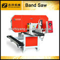 Horizontal band saw for wood cutting