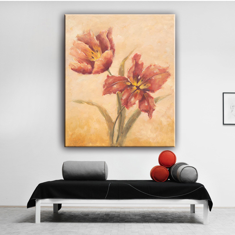Home decor asian style flower wall picture oil canvas painting