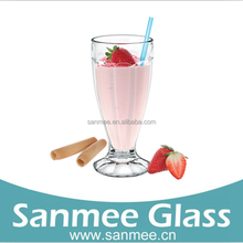 Simple Crystal Glass Juice Cup Milkshake Cup Ice Cream Cup Drinking Glass Manufacturers China Drinking Water Glass