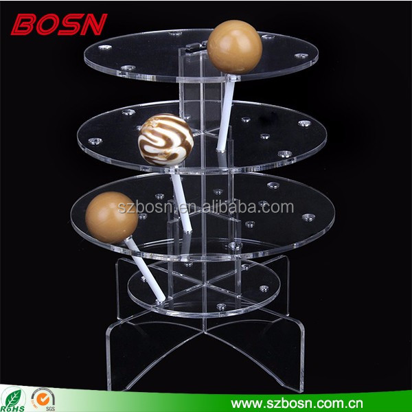 Hot sell large lollipop display rack lucite perspex chocolate stand holder for candy store