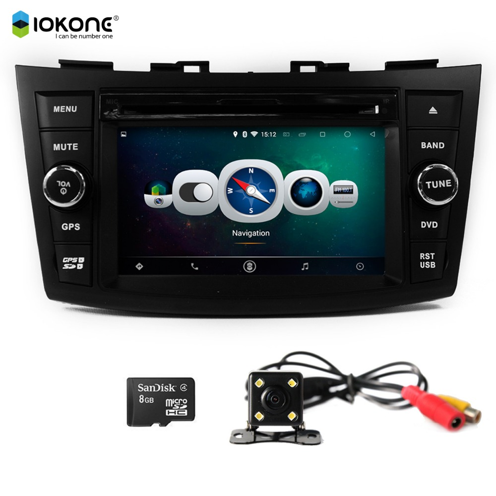 "iokone 7"" android tablet double din car dvd player for Suzuki Swift 2011 2012 with gps wifi"