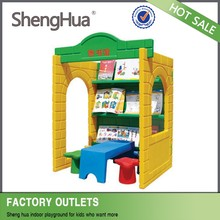 Wholesale cheap kids train plastic outdoor playhouse playground with SGS TUV certificate