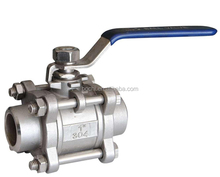 304 Stainless Steel Female Threaded Three Pieces Ball Valve