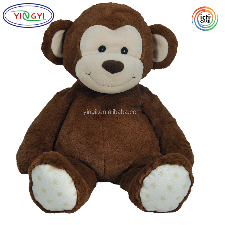 "D604 Huggable Brown Plush Monkey 22"" Giant Animal Stuffed Toy Big Monkey Plush"