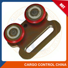 BOX6072 Zinc plated steel Nylon wheel roller with curtain tracks