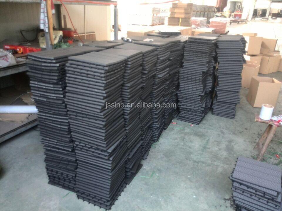 Garden Tile Self Installing Wpc Decking Tiles Patio Flooring Interlocking Plastic Base