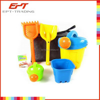 Hot selling kids beach bucket wholesale kids plastic beach bucket and spade