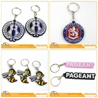 High quality china wholesale custom souvenir gift rubber pvc keyring promotional keychain