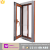 thermal break aluminum window with mosquito net casement window open inward
