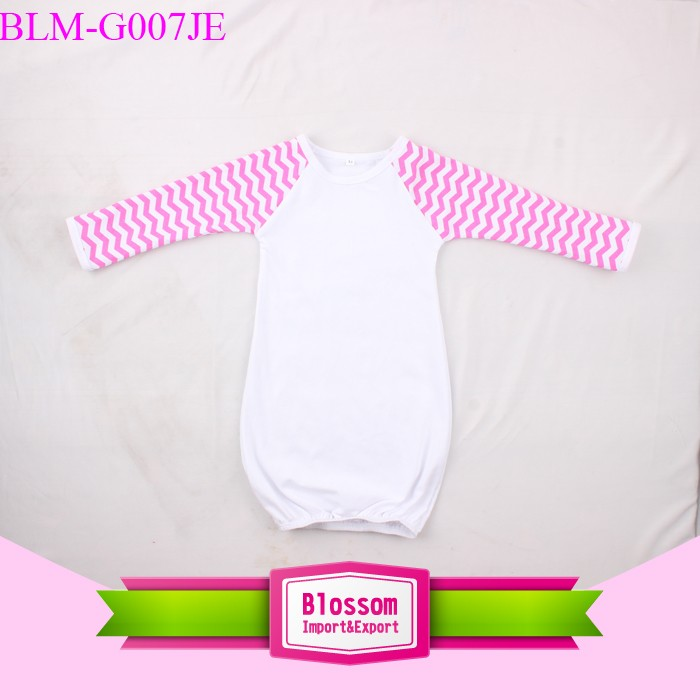 Baby raglan gown 0-24month cotton sleeping baby gown kids gown picture