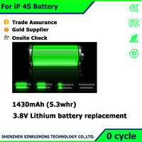 Lithium ion 3.7V battery parts for China Mobile phone built-in battery for iPhone 4S