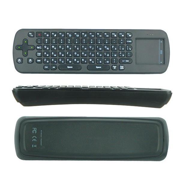 2.4G wireless touchpad air mouse RC12 keyboard wireless fly mouse in Russia language