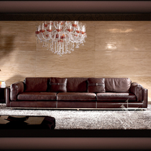 MAKA Ready Made Exclusive Modern Leather Furniture 7 Seater Sofa Set