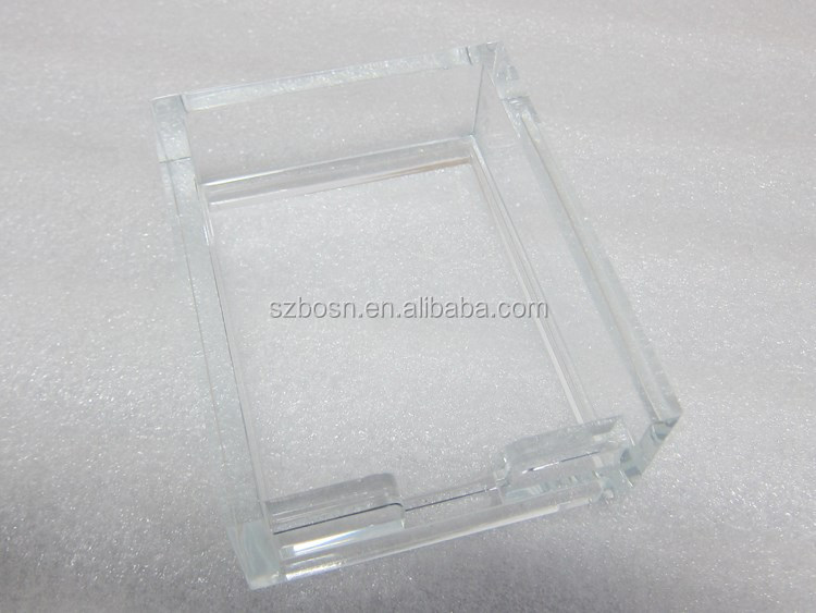 Injection mould made Clear acrylic plastic High Quality Paper Memo Holder for office
