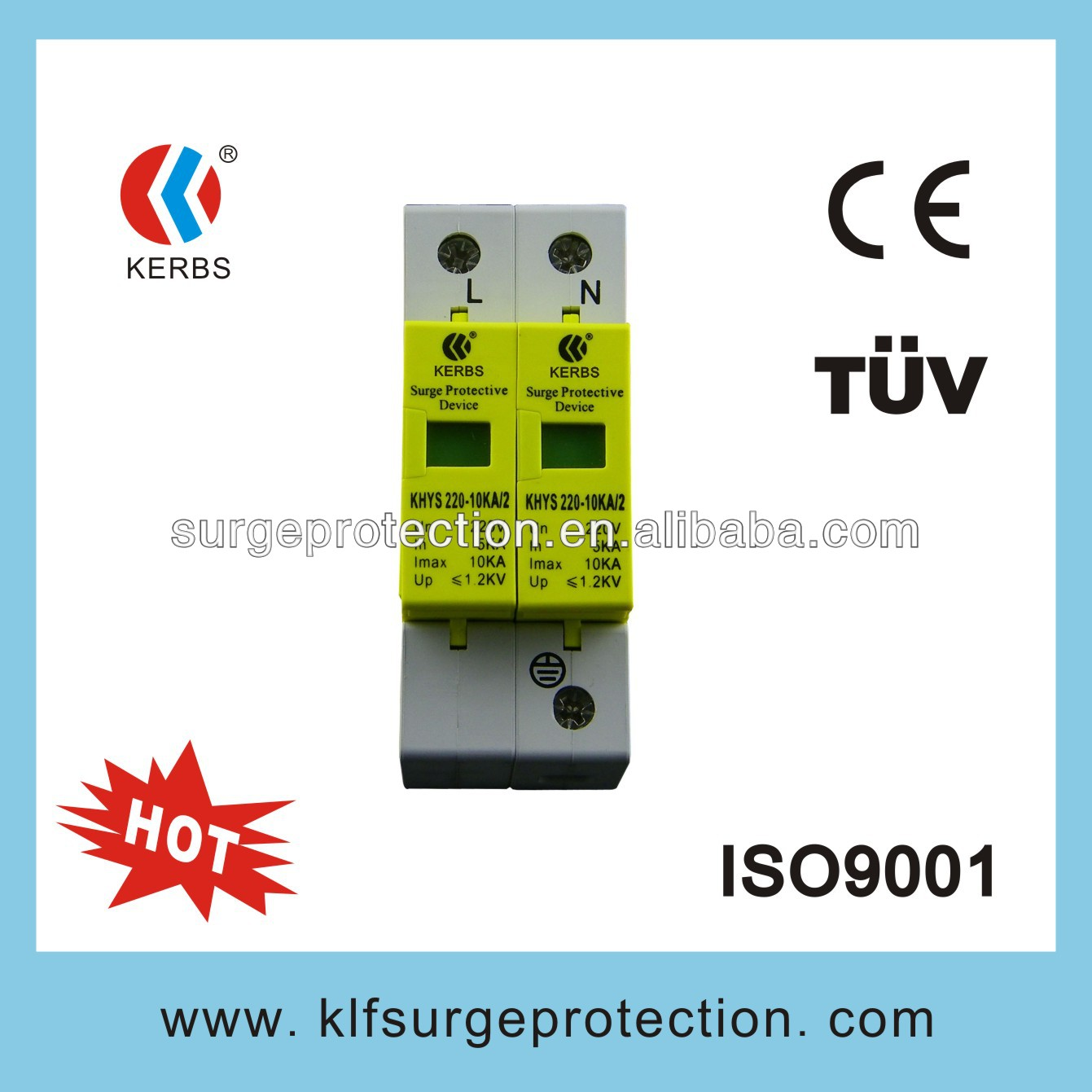 220V,10KA Power surge arrestor protect LED lights