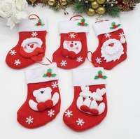 Wholesale Stock Small Order Christmas Decoration Cute Socks