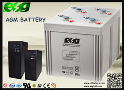 Telecom battery UL|CE|ISO Certificates 2v2000ah maintanence free battery