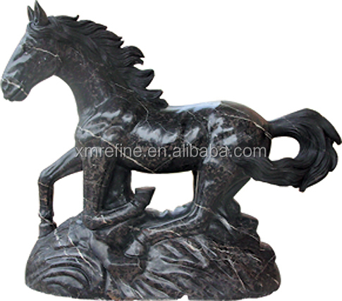 antique life size brown marble horse sculpture,garden horse statues for sale