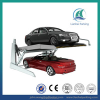 Tilting car parking elevator with CE