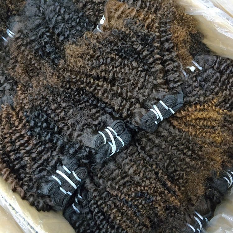 LetsFly Wholesale 10pcs 420g Kinky Curly Original Raw Real Natural Brazilian Human Hair Unprocessed Virgin Hair <strong>weave</strong>