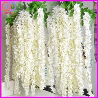 plastic artificial flowers wisteria stem for outdoor
