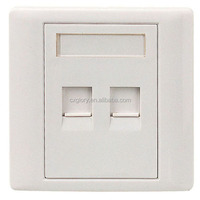 Factory Price High Quality Network Dual Port RJ45 Faceplate 86 Type Wall Plate