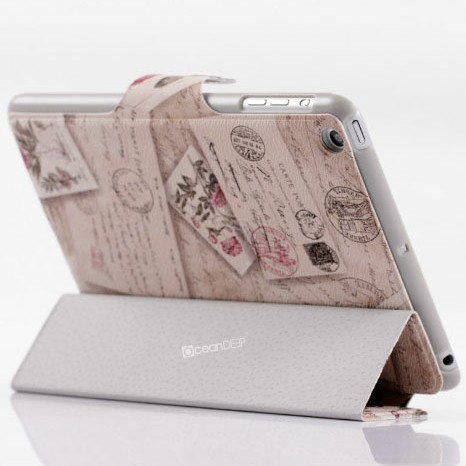 Quality design flip cover case for apple ipad mini smart cover
