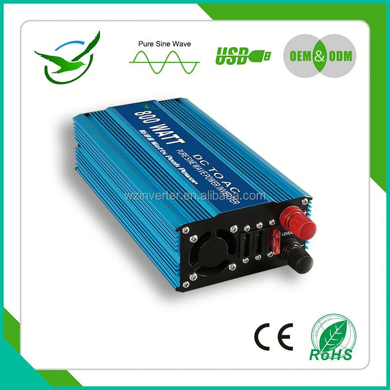 Single phase micro 110v frequency 60hz 800w 24v 220v converter electric s for house wth LED USB