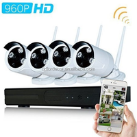 Wifi CCTV Surveillance System with 4x960p HD Night Vision Outdoor IP Camera
