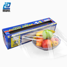 PE food grade and transparent color plastic wrap with dispenser