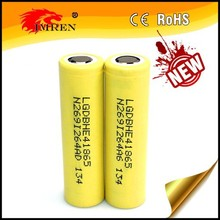 Wholesale lghe4 35amp high discharge chargeable 3.7v li ion 18650 35amp 2500mah lg he4 18650 battery