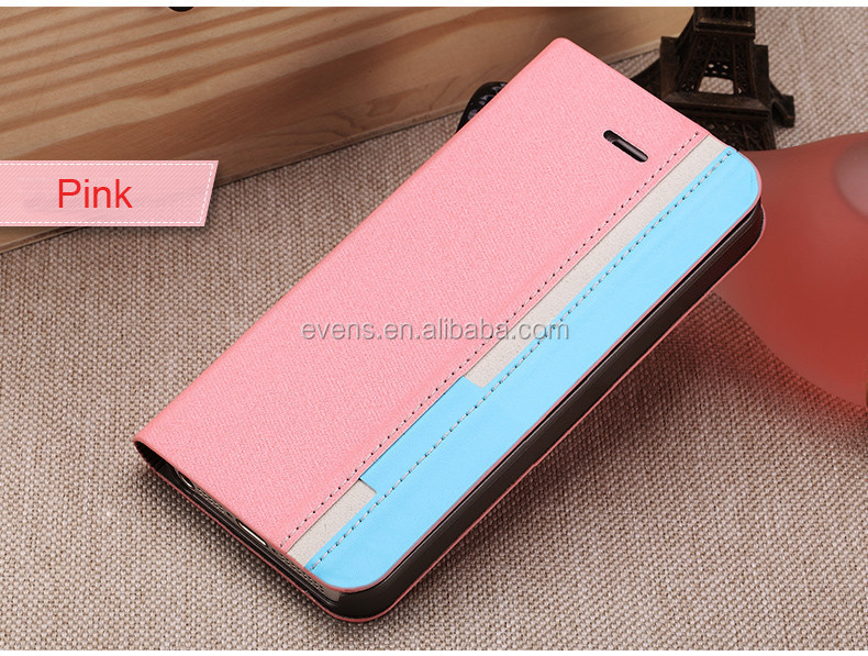 Contrast color Fashion PU Leather Wallet Flip Mobile Phone Case Cover For Blackberry 9300